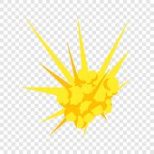Bomb Explosion Icon. Flat Illustration Of Bomb Explosion Vector Icon For Web Design poster