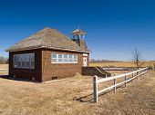 picture of western nebraska  - An old one room school house on the vast Nebraska prairie - JPG