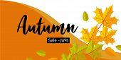 Autumn Big Sale Banner Horizontal. Flat Illustration Of Autumn Big Sale Banner Horizontal For Web De poster