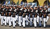 picture of united states marine corps  - Public performance of the United States Marine Corps Silent Drill Team - JPG