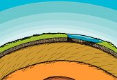picture of lithosphere  - Cross - JPG