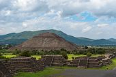 Pyramid Of The Sun As Viewed From Pyramid Of The Moon, Mexico