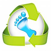 picture of carbon-footprint  - Inspire people to conserve energy and water with this conceptual image - JPG