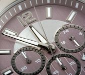 stock photo of analog clock  - mechanism analog luxury watch chronometer background nobody - JPG