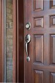 picture of front door  - Wooden Front Door of an Expensive Home - JPG