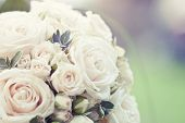 stock photo of rosa  - Beautiful wedding bouquet with soft focus - JPG
