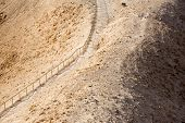 foto of masada  - Stairs leading to the desert fortress of Masada Israel - JPG
