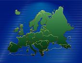Europe Map Green. poster