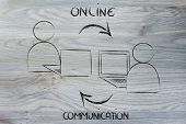 stock photo of ebusiness  - conceptual design of the communication patterns on the web - JPG
