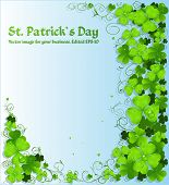 St. Patrick's Day Green Clover Light Background