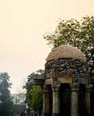 image of khas  - Ancient mughal architecture domes at Hauz Khas delhi - JPG