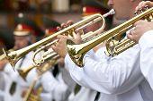 Постер, плакат: Marching Band Trumpets