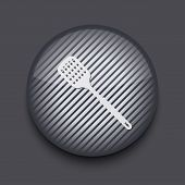Vector app circle striped icon on gray background. Eps 10