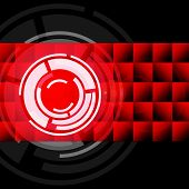 stock photo of lp  - Red Circles Background Showing LP Or Record - JPG