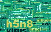 pic of avian flu  - H5N8 Concept as a Medical Research Topic - JPG