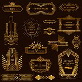 foto of  art  - Art Deco Vintage Frames and Design Elements  - JPG