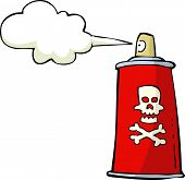 pic of poison  - Poison spray on white background vector illustration - JPG