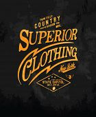 image of apparel  - vintage typography for apparel 3 - JPG