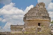 stock photo of mayan  - Mayan observatory at Chichen Itza - JPG