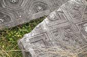 Detail of Roman ruins, near Podgorica, Montenegro. poster