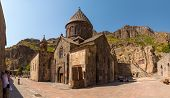 pic of armenia  - The ancient Christian temple Geghard in the mountains of Armenia - JPG