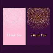 image of lace  - Purple and pink vintage invitation card with lace doily flowers  - JPG