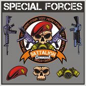 foto of special forces  - Special forces patch set  - JPG