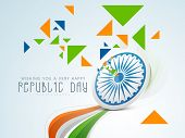pic of ashoka  - Indian Republic Day celebration concept with Ashoka Wheel - JPG