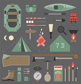 foto of boot camp  - Isolated vector elements for travel and camping infographics - JPG
