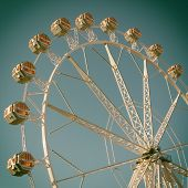 stock photo of ferris-wheel  - Ferris Wheel with filter effects applied - JPG