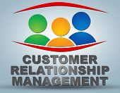 picture of customer relationship management  - Customer Relationship Management text illustration concept on grey background with group of people icons - JPG