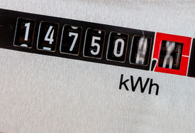foto of electricity meter  - an electricity meter measures the electricity consumed - JPG