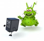 stock photo of germs  - Fun germ - JPG