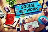 image of social-security  - Social Network Internet Online Society Connecting Social Media Concept - JPG