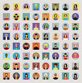 stock photo of avatar  - Set avatars people - JPG