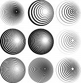 picture of uncolored  - Concentric Circle Elements  - JPG