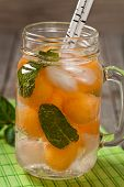 image of cantaloupe  - Cantaloupe Melon and Mint Lemonade - JPG