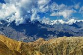 pic of jammu kashmir  - aerial view of snow peaks Leh ladakh landscape cloud formation Jammu and Kashmir India - JPG