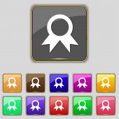picture of prize winner  - Award Prize for winner icon sign - JPG