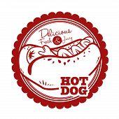picture of wiener dog  - hot dog graphic design  - JPG