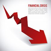 image of crisis  - financial crisis graphic design  - JPG