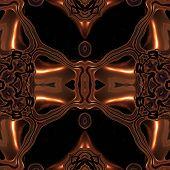 image of viking  - Abstract metallic bronze viking like pattern made seamless - JPG