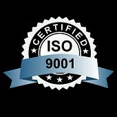 picture of emblem  - ISO certified emblem ISO stamp quality symbol - JPG