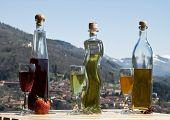 image of liquor bottle  - photo of the three liquor bottles - JPG