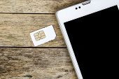 picture of micro-sim  - smart phone use with micro sim card black screen - JPG