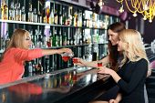 image of bartender  - One more shot for a girl company - JPG