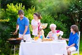 picture of bbq party  - Grill barbecue backyard party - JPG