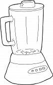 image of blender  - Outline of hand drawn cartoon blender with glass jar - JPG