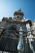 foto of obelisk  - Obelisk detail Place del Ges - JPG