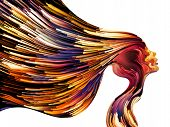 stock photo of hair streaks  - Colors of Imagination series - JPG
